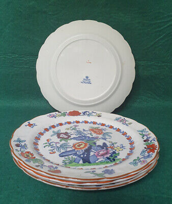 Booths Silicon China 'The Pompadour' Pattern -  8.5  Plates X4 • 11.99£