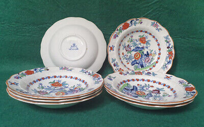 Booths Silicon China 'The Pompadour' Pattern -  6.25  Saucers X7 • 8.99£