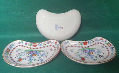 Booths Silicon China 'The Pompadour' Pattern -  Kidney Dish X3 • 7.99£