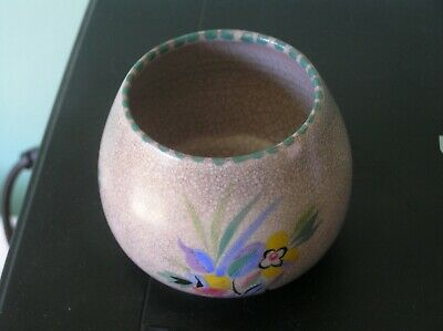 An Attractive Vintage Poole Pottery Vase: Flower Decoration: 4  Tall: Vgc • 0.99£