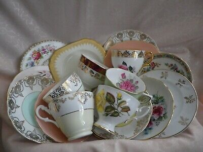 Lovely Vintage Set Of 6 Mixed Trios , 18 Pieces, Job Lot, Good Condition   (4) • 24£