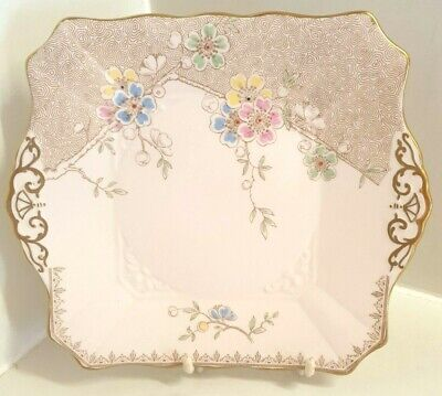 Lovely Tuscan Plant English Bone China Cake/Bread Plate • 12.99£