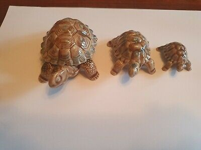 Wade Porcelain Pottery China Set 3 Tortoise Turtle Trinket Collectable Ornament  • 30£
