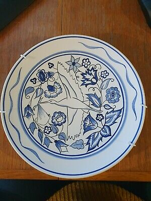Susan Russel Poole Pottery Stork Plate • 17£