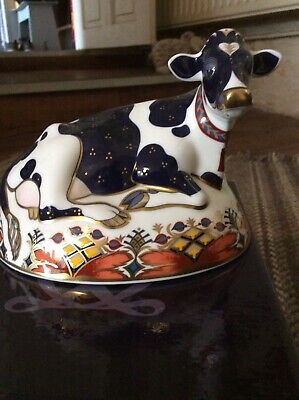 Royal Crown Derby Paperweight Frisian Cow Buttercup • 48£