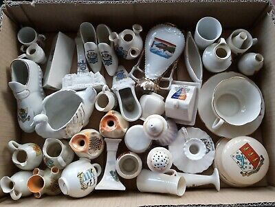 Job Lot/bundle/collection Of 39 Crested Ware/crested China • 20£