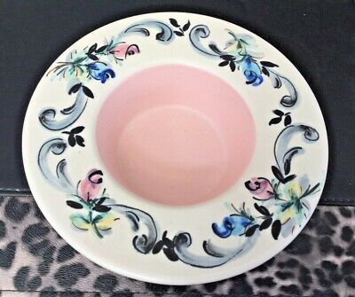 Vintage Axe Vale Pottery, Devon - Hand Painted Roses Dish - 1950's - Signed BD • 9.95£