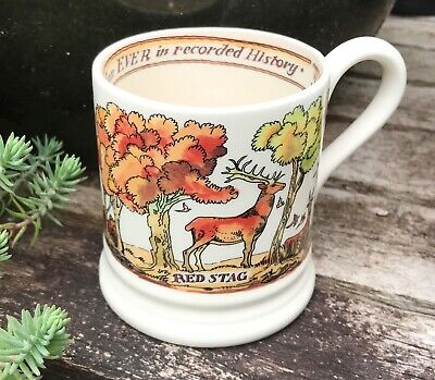 Emma Bridgewater Pottery In The Woods 1/2 Pint Mug - Stag Deer New 1st Quality  • 19.50£