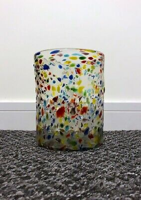 Large Mexican Handblown Coloured Vase From Recycled Glass • 5£