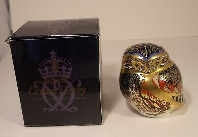 Royal Crown Derby Paperweight Little Owl Boxed First Quality • 44.99£