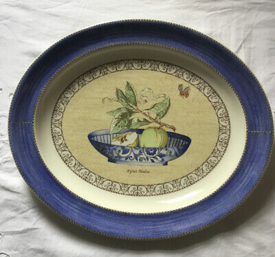 WEDGWOOD SARAH'S GARDEN (BLUE) LARGE OVAL PLATTER 42x36cm GREAT CONDITION • 29£