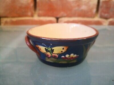 Lovely Vintage Torquay Pottery Hand Painted Butter Bowl  Fresh From The Dairy  • 3.99£