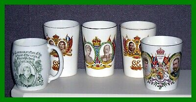 Five Maling Pottery Commemoratives  - See Listing - Queen Victoria Mug + Others • 29.99£