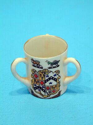 Temple Crested China Three Handled Cup - Limpsfield • 9.99£