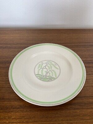 Keith Murray Wedgwood Moonstone Green Weeping Willow Plate Art Deco #2 • 10£