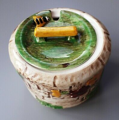 Hand-Painted & Glazed 'HONEY POT' - Made In England • 4£
