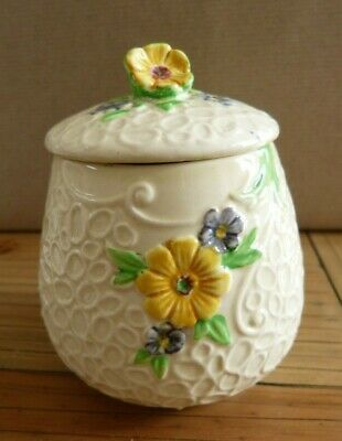 Weatherby Hanley Honey Pot June 11cm Height, Royal Falcon Ware, Patches On Base • 1.20£