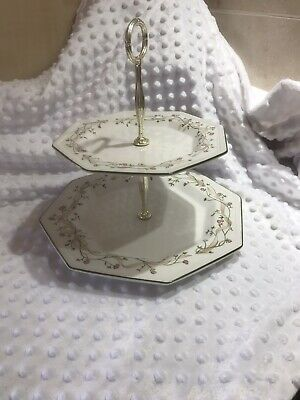 Johnson Brothers Eternal Beau - 2 Tier Cake Stand • 7£