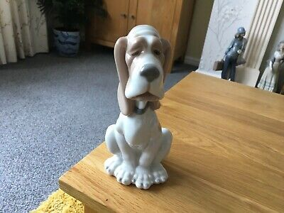 Nao Lladro Sad Basset Hound Issued In 1982 • 9.99£