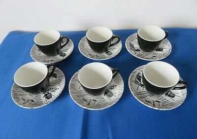Ridgway Homemaker Coffee Cups & Saucers X 6 • 65£
