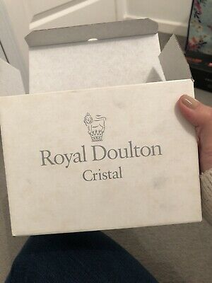 2 X Royal Doulton Finest Crystal Monique Brandy Glasses Unused In Box. • 7£