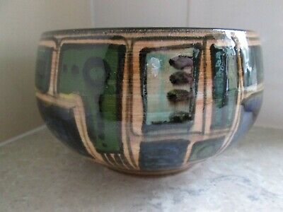 Vintage Scandanavian Art Pottery Bowl - Signed To Base  &  Dated  1970 • 14.99£