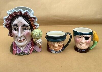 Lot Of 3 Character Or Toby Jug Collectables Doulton Sandland And Beswick • 7.50£