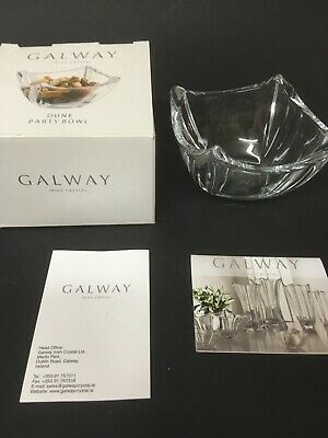 "☘️ Galway Crystal ""Dune"" Party Bowl 4.5"" No.G45076 • 12.99£"