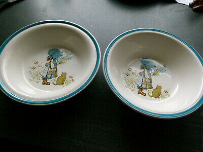 2 Holly Hobby Cereal Dishes Dated 1978 • 0.99£