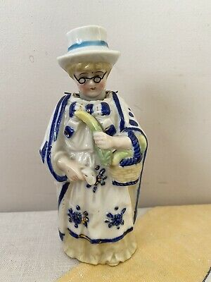 Vintage Antique Lovely Old Lady Wear Spectacle Figurine Nodding Movement • 3.99£