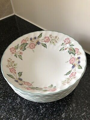 BHS Victorian Rose Cereal Bowls X 6 • 15£