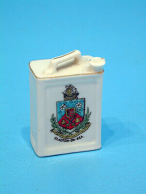 Arcadian Crested China Miniature Motor Spirit Can- Clacton-on-Sea • 69.99£