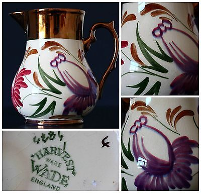 STUNNING Wade Luster Ware Jug Harvest Pattern 13cm High IN MINT CONDITION  • 25£