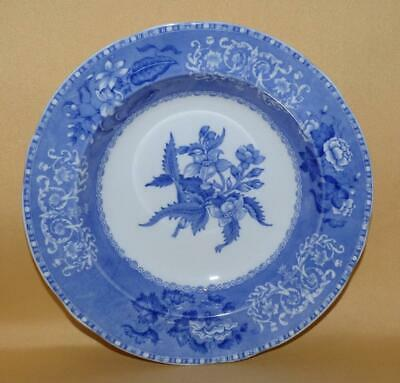 Copeland Spode Pearlware Camilla  Pattern Blue & White Soup Plate C1925 • 30£