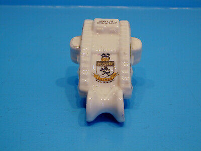 Royal Stafford WWI Crested China Tank With Trailing Wheels - Middlesbrough • 19.99£