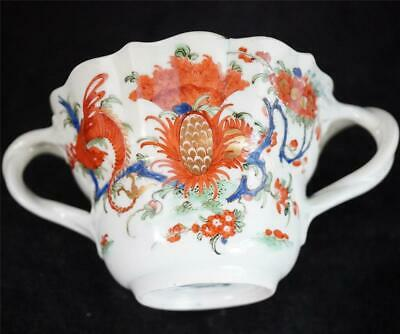 Antique 18th Century Worcester Jabberwocky Pattern Chocolate Cup • 49.99£