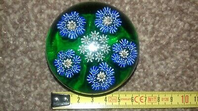 SCOTTISH MILIFIORI PAPERWEIGHT 6cm Excellent Pattern RARE From Perthshire Crieff • 9.50£