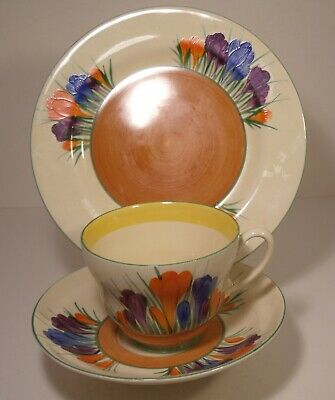 Clarice Cliff Wilkinson Autumn Crocus Trio Cup, Saucer And Side Plate  • 59.99£