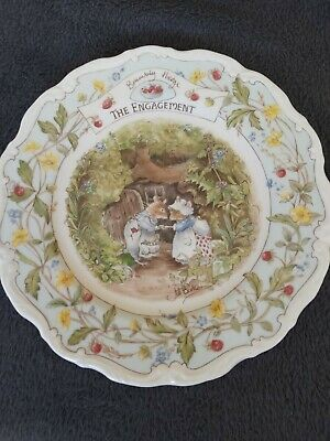 Royal Doulton, Brambly Hedge 21cm Plate - The Engagement • 8.50£