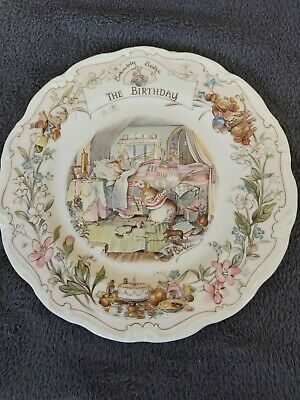 Royal Doulton, Brambly Hedge 21cm Plate - The Birthday • 8.50£