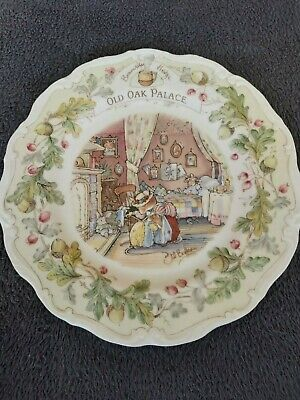 Royal Doulton, Brambly Hedge 21cm Plate - Old Oak Palace • 8.50£