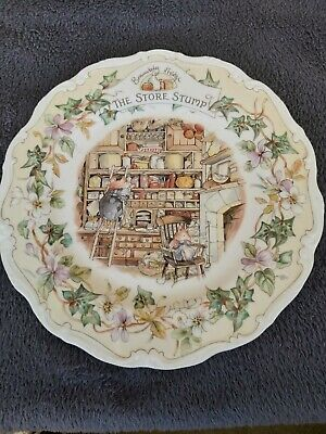 Royal Doulton, Brambly Hedge 21cm Plate - The Store Stump • 8.50£