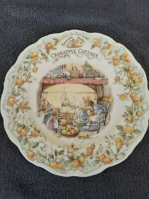 Royal Doulton, Brambly Hedge 21cm Plate - Crabapple Cottage • 8.50£