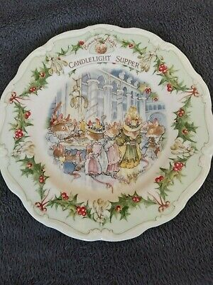 Royal Doulton, Brambly Hedge 21cm Plate - Candlelight Supper • 8.50£