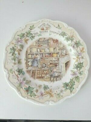 Rare Vintage Royal Doulton Brambly Hedge  Plate The Store Stump 8  • 7£