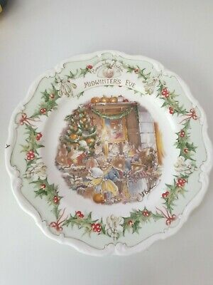 Royal Doulton Brambly Hedge MIDWINTERS EVE Plate • 17£