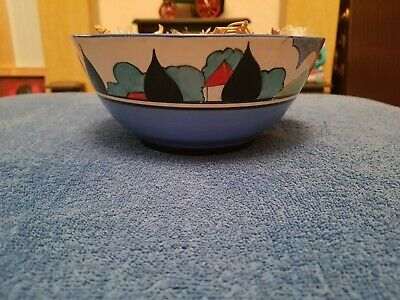 Clarice Cliff May Avenue Bowl In Very Good Condition, No Crazing Or Cracks... • 3,000£