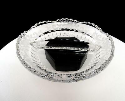 New Martinsville Elegant Glass Radiance Floral And Scroll Etch 7  Divided Dish • 16.07£