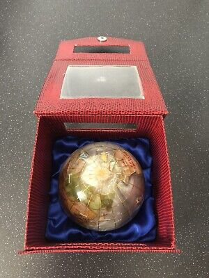 Gemstone Globe, Large Paperweight In Gift Box, Used • 5£