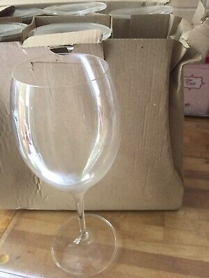 Six (6) Large Fine Crystal Wine Glasses From Villaroy And Boch • 17.99£